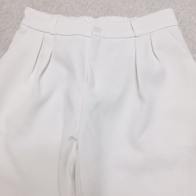 白色寬褲 老爺褲