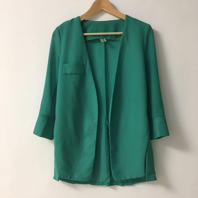*韓國時尚* 綠色西裝外套 90%new