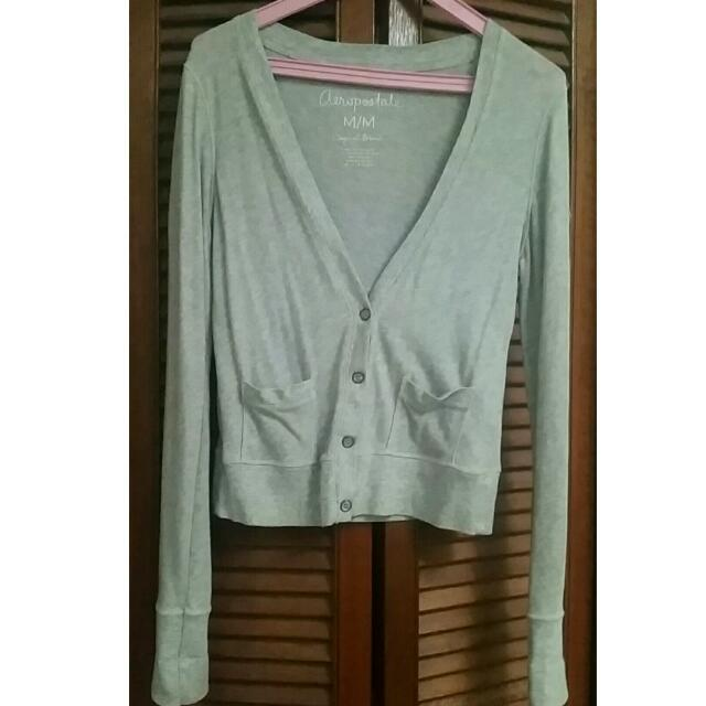 Aeropostale Long Sleeve Grey Cardigan