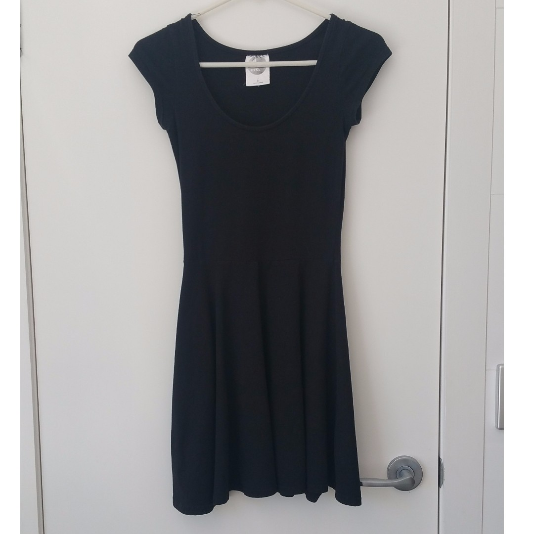 All About Eve black skater dress