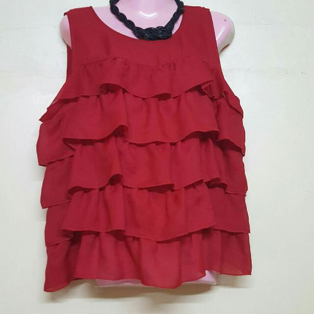 Red Apostrophe Blouse