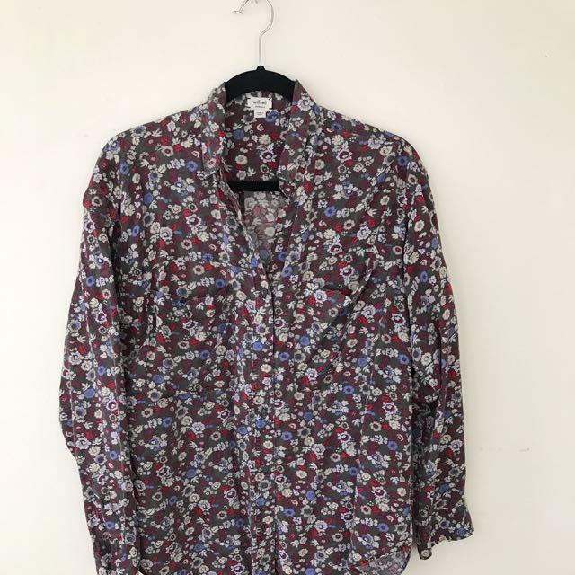 Aritzia Floral Shirt