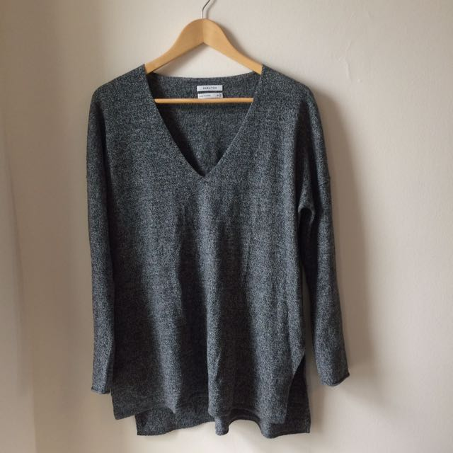 Aritzia(Babaton) Wool Salt And Pepper Longsleeve/sweater