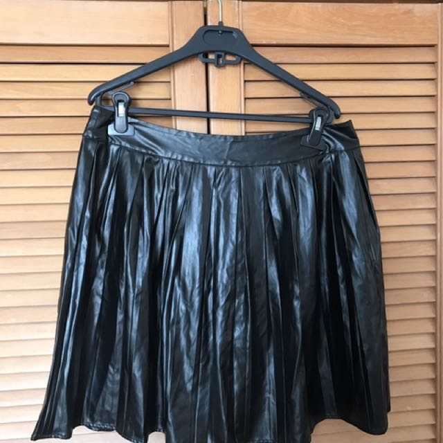 Asos leather umbrella skirt