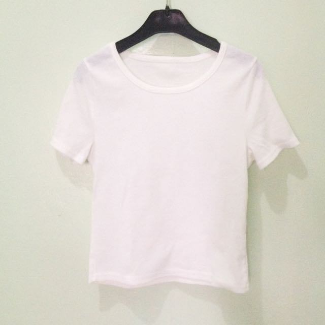 REPRICED Basic Plain Ribbed Shirt/ Tshirt