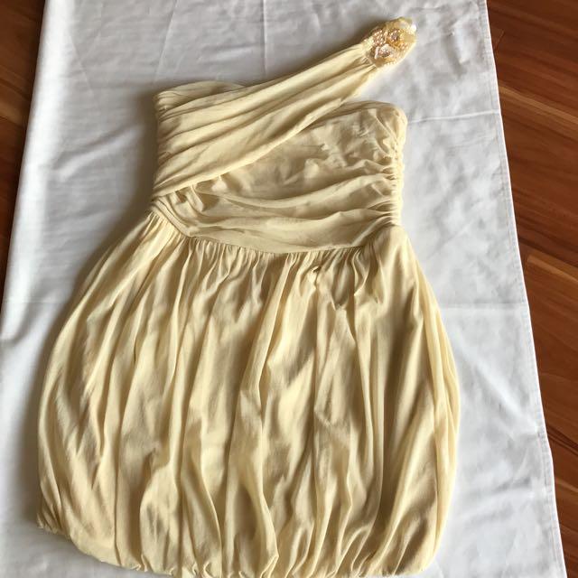 Beige Bubble Dress