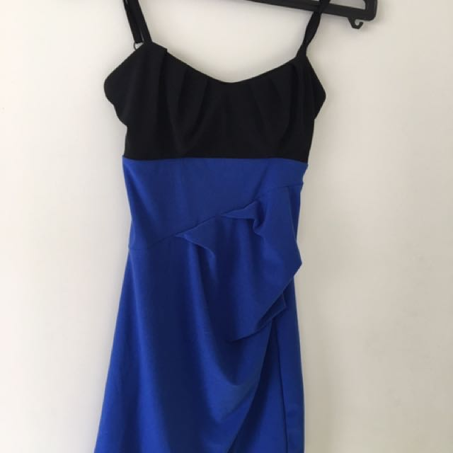 Black And Blue Bodycon Dress