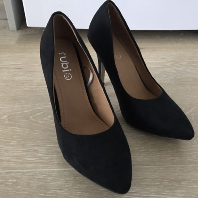Black Suede Heels Rubi Shoes