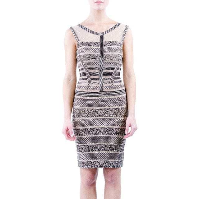 Black/nude Bandage Dress
