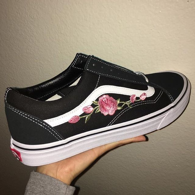 vans old skool embroidered roses - www.cytal.it 4c88127d2