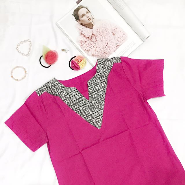 Bold Pink Blouse
