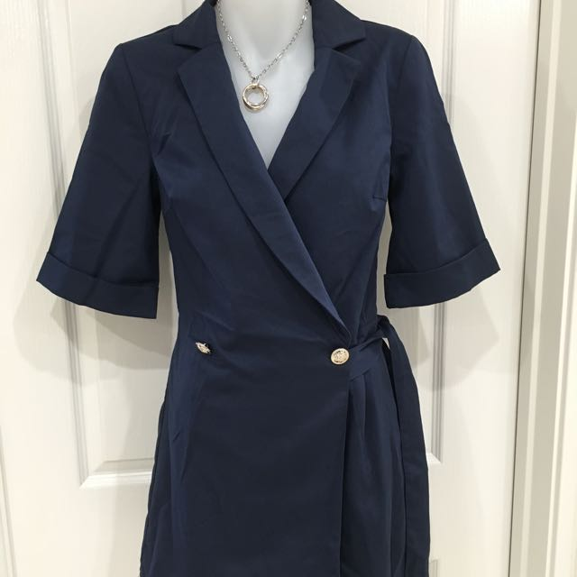 Brand New Navy Wrap Playsuit