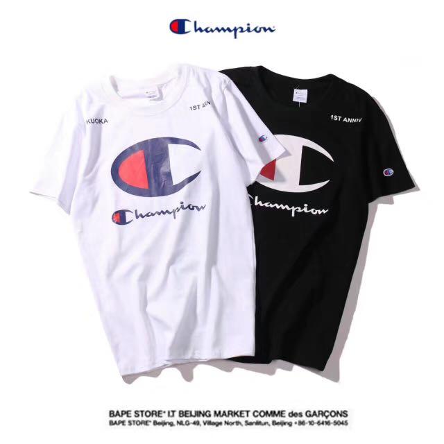 Champion大logo短T