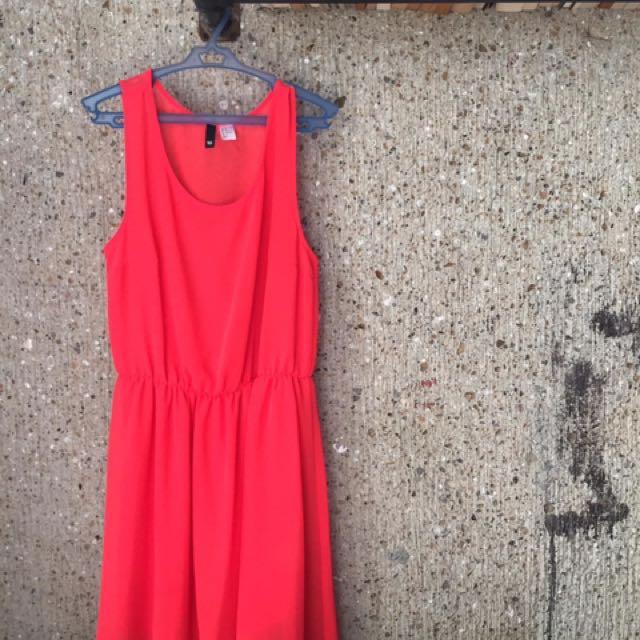 H&M Divided Chiffon Dress