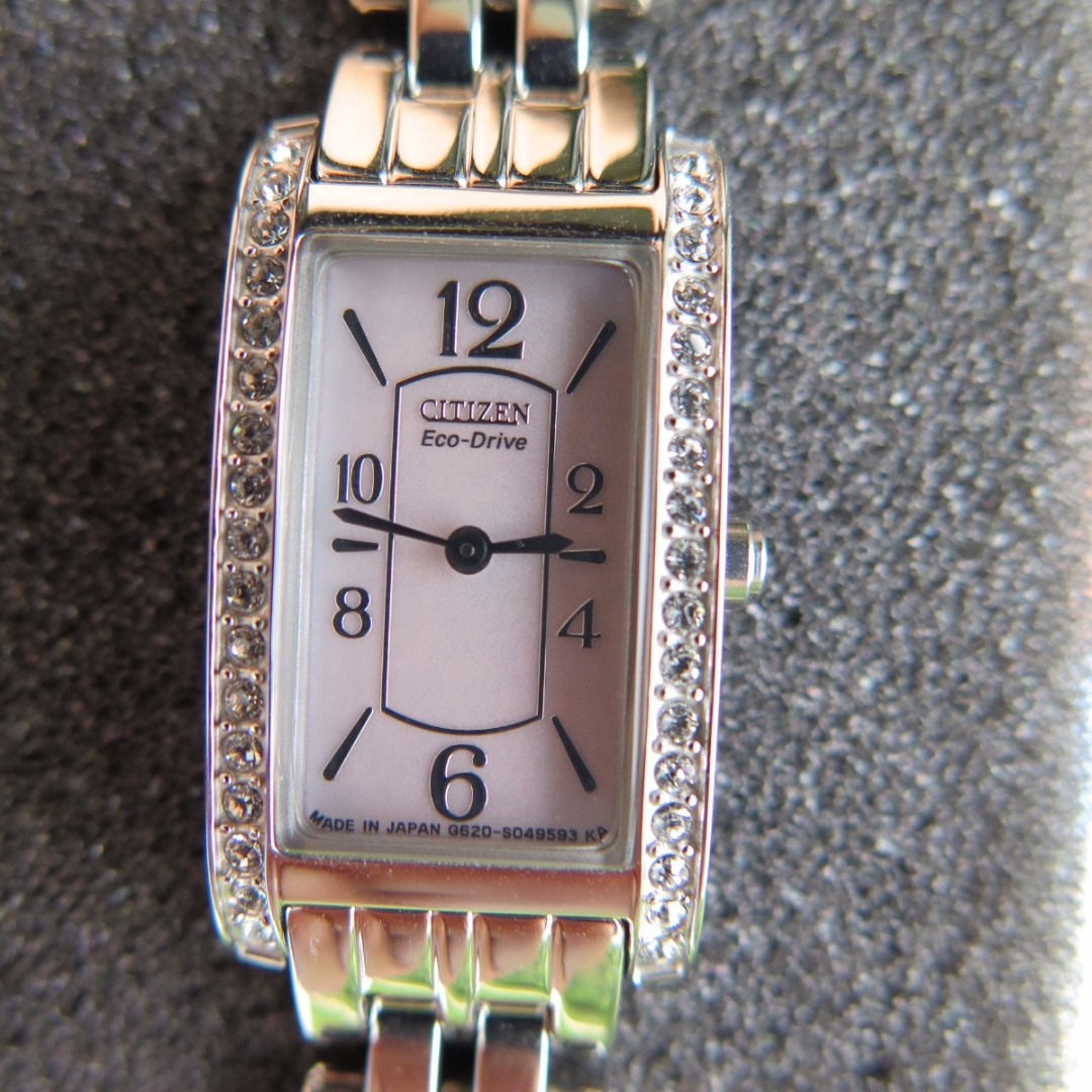 Citizen Eco-Drive Ladies Mother Of Pearl Swarovski Japan Elegant Watch
