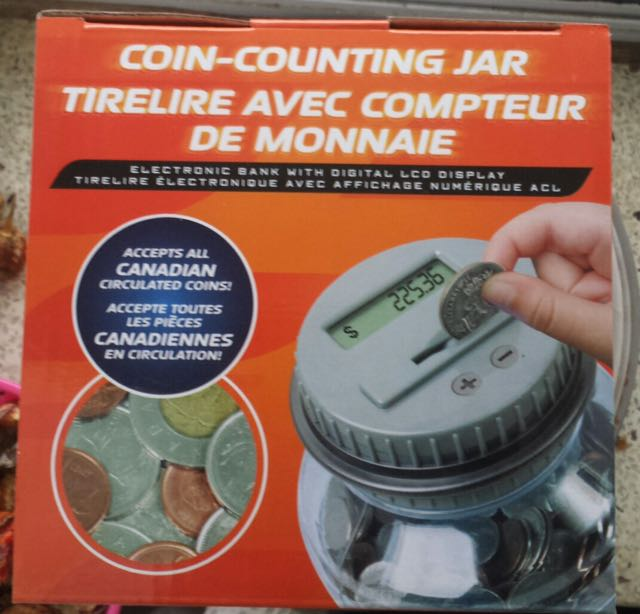 Coin Counting Jar