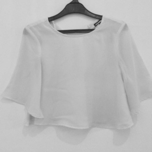 Colorbox White Crop Top