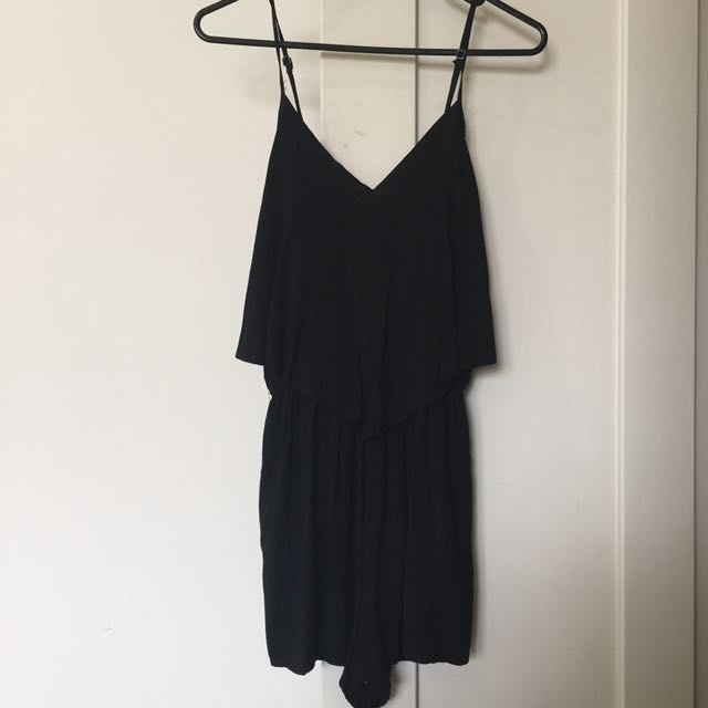 Cotton On Black Playsuit