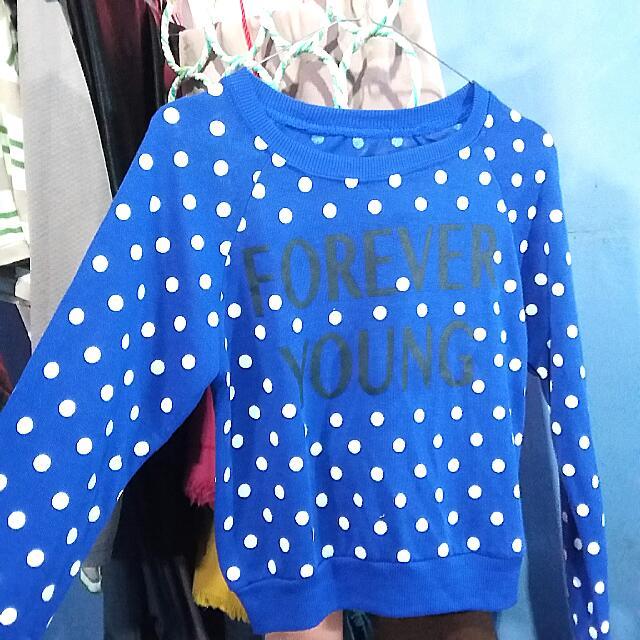 Croptop Blue Sweatshirt