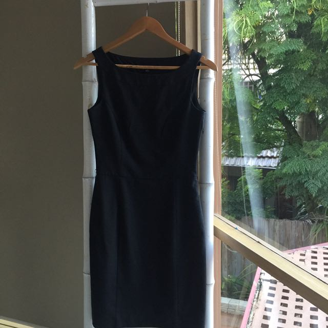 Cue Charcoal Grey Work Dress Sz 6