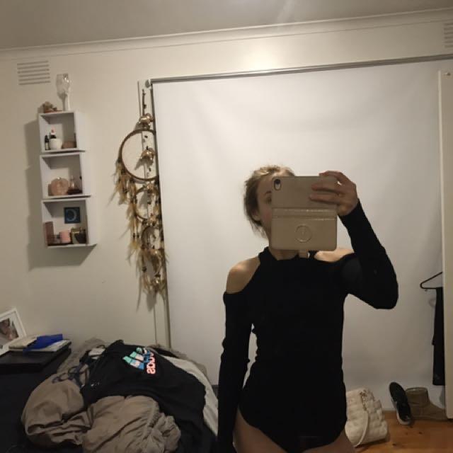Cut Out Shoulder Top