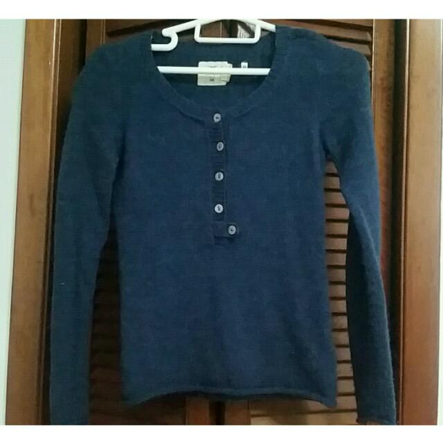 Dark Blue H&M Long Sleeve Sweater