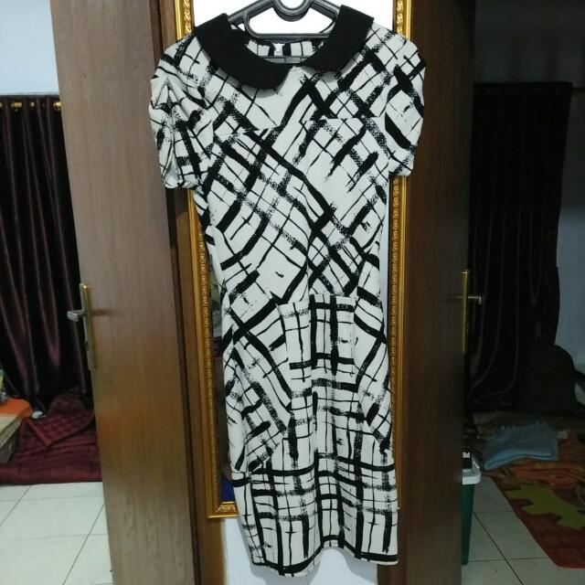 dress middle selutut free ongkir