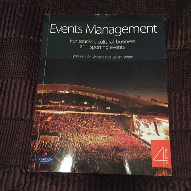 Events Management Textbook 4th Edition