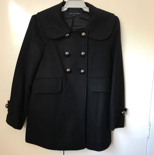 FCUK black wool coat