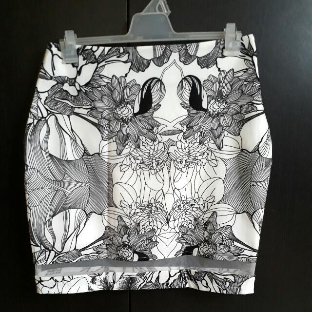 Floral Mesh Skirt - Ally