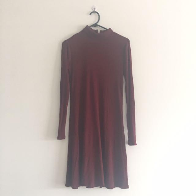 Forever New Dark Wine Dress