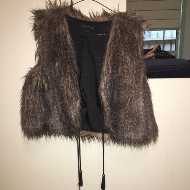 Forever New Faux Fur Vest