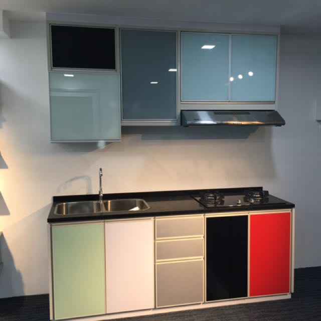 photo photo photo full aluminium kitchen cabinet kitchen  u0026 appliances on carousell  rh   sg carousell com