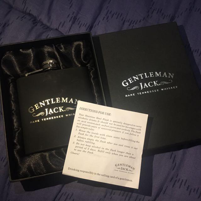 Gentleman Jack Stainless Steel Flask