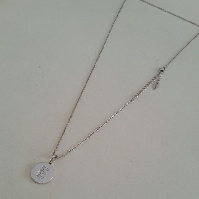 BRAND NEW Georgini Necklace Silver With 'E' Pendent