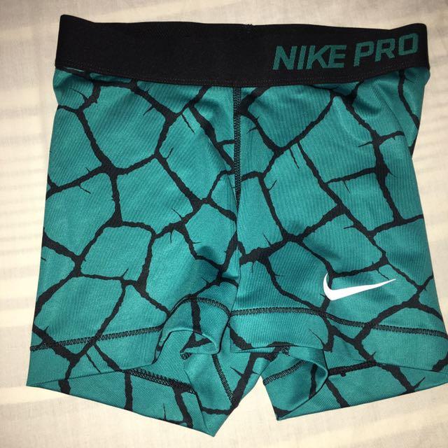 Green Nike Pro Shorts