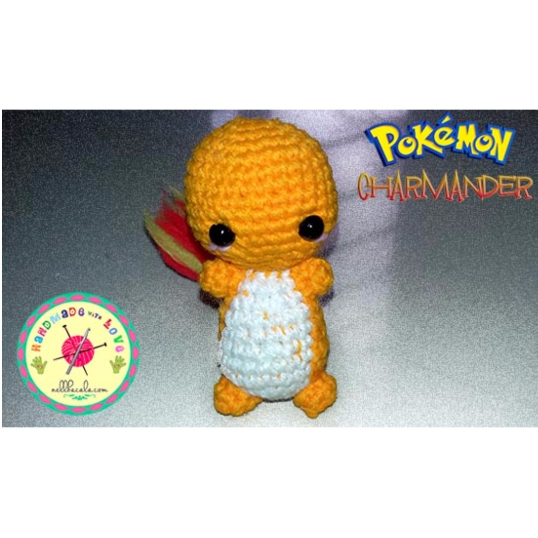Handmade Pokemon Charmander Necklace or Keychain