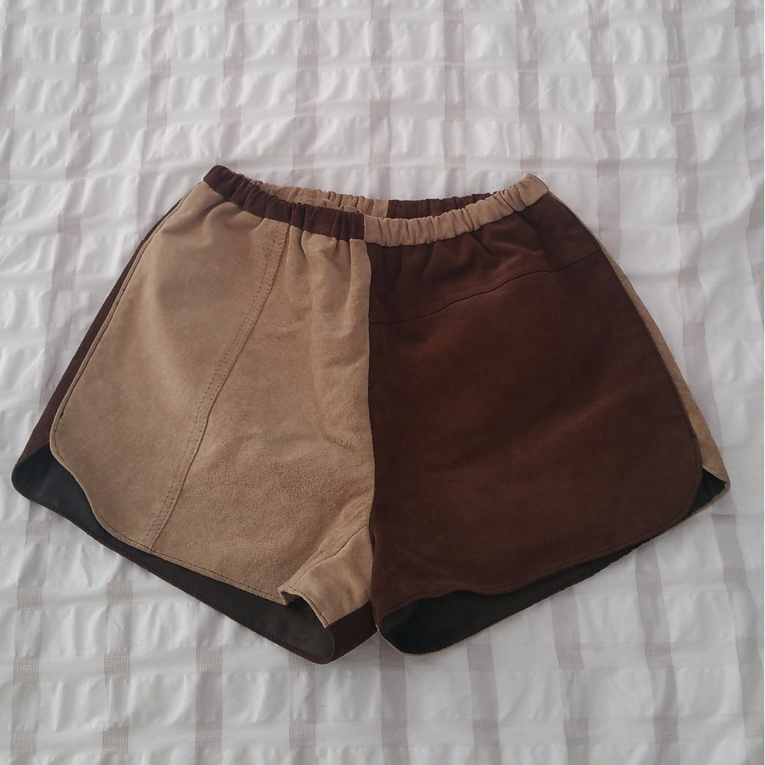 Handmade suede shorts