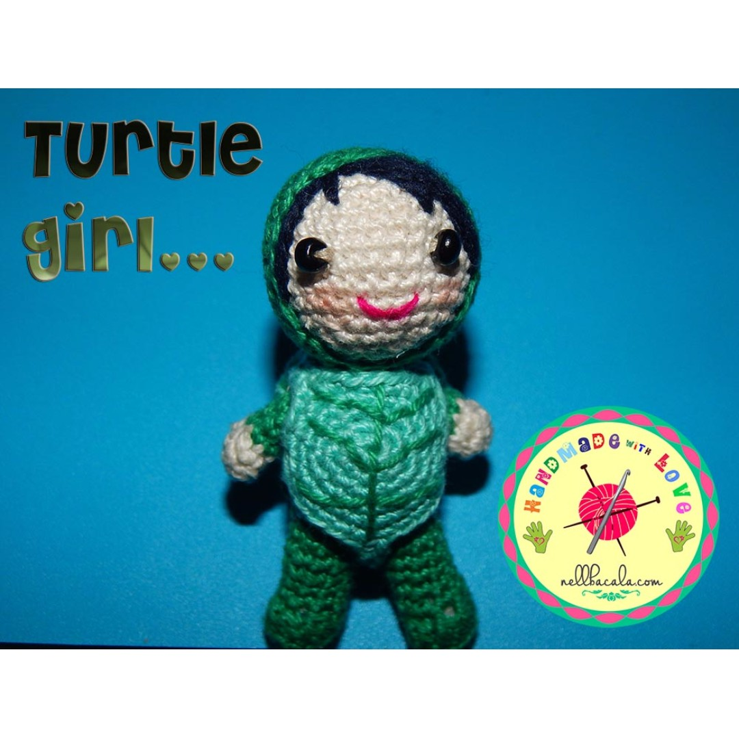 Handmade Turtle Girl Necklace