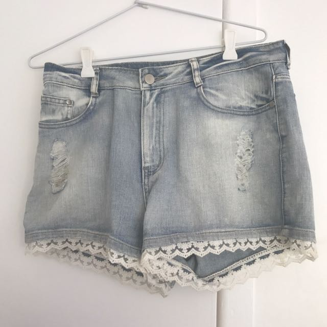 High waisted Ripped Shorts
