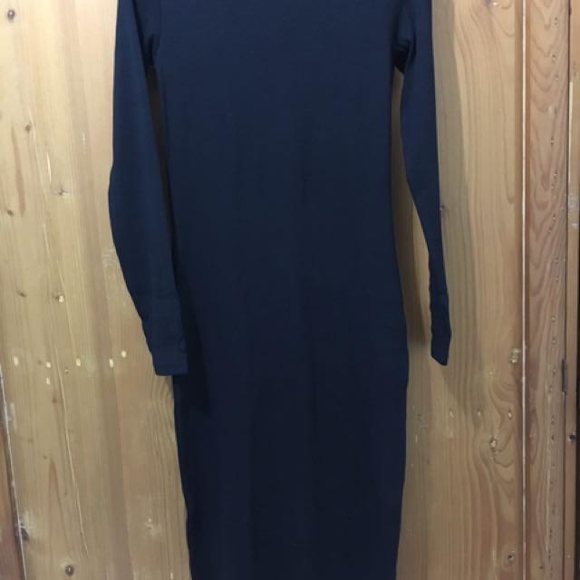HnM Divide Black Dress