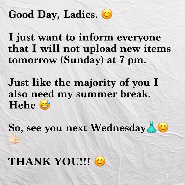 IMPORTANT NOTE! 😊