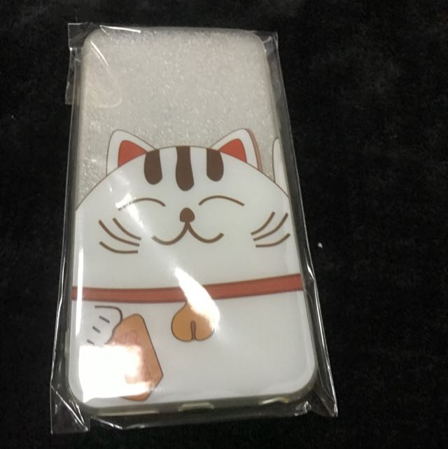 Iphone 6 Plus 5.5吋透明招財貓手機殼