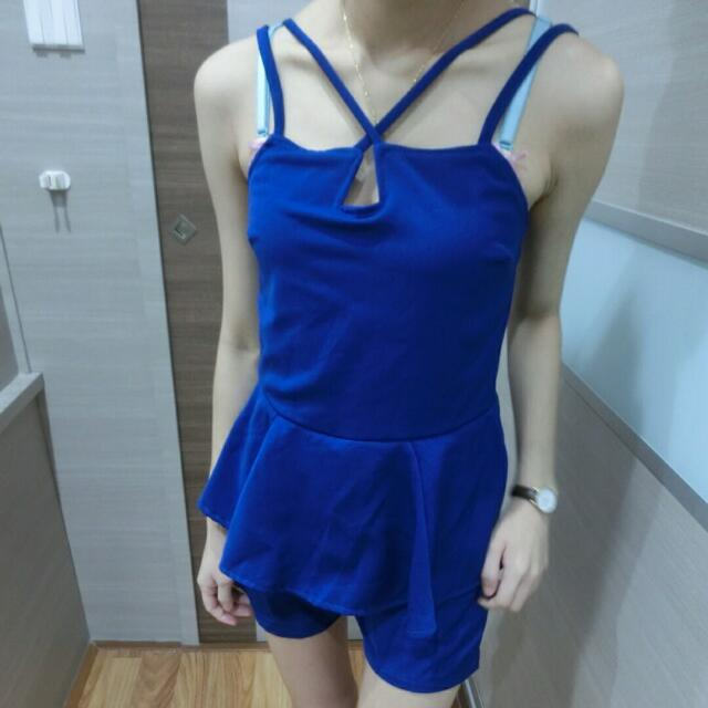 Jumpsuit blue electric