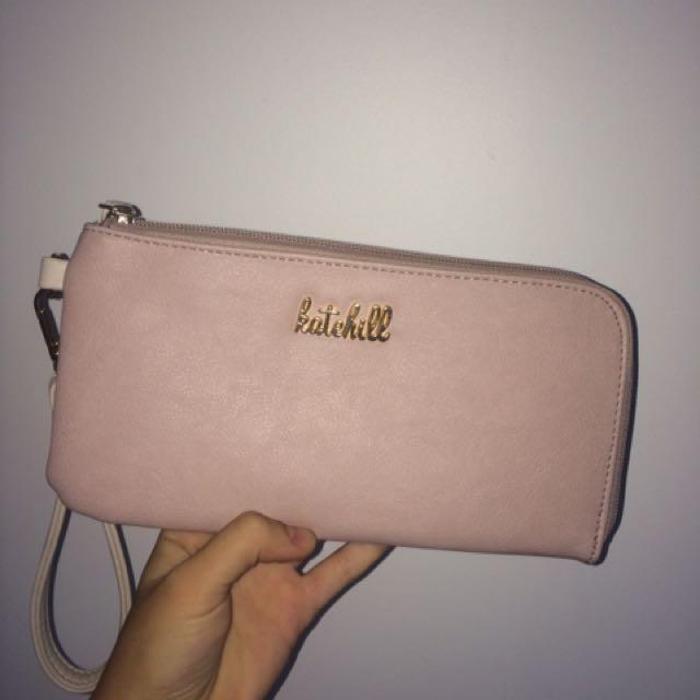 Kate Hill Pink Clutch Purse