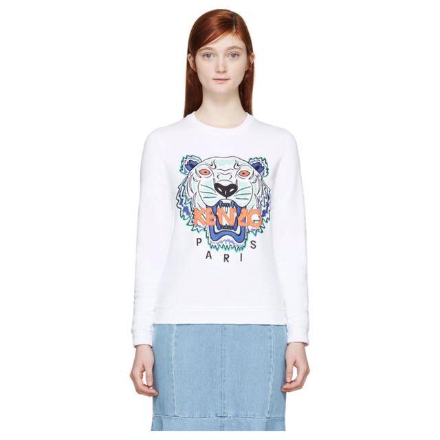 Kenzo White Sweatshirt