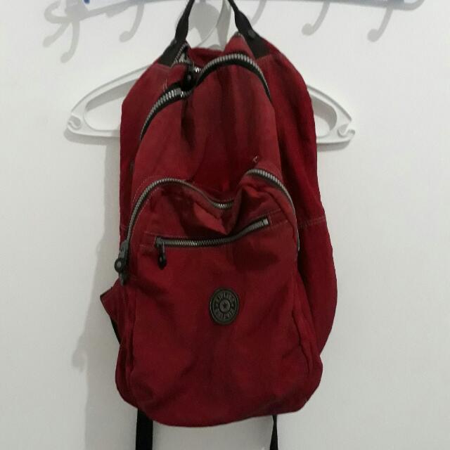Kipling Bag Red Blood Original