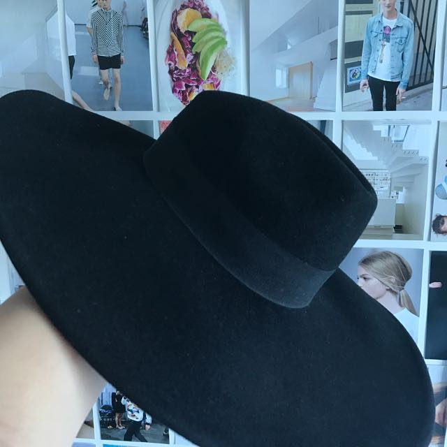 Kookai black wide brimmed hat