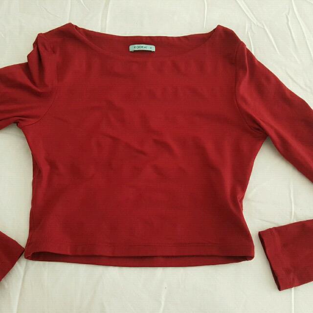 Kookai long sleeve crop top Brand new size 2