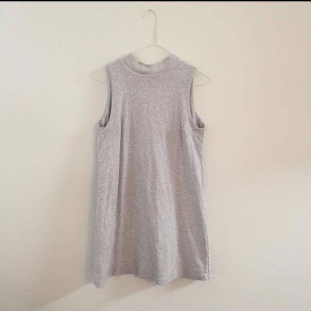 Kookai size 1 high neck shift dress grey